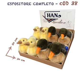 Espositore assortito tema volatili composto da 8 articoli - 2053 germano reale - 4857 anatroccolo