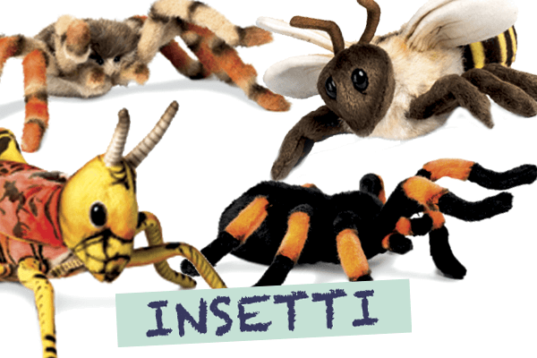 Insetti Hansa Creation con vari animali di Peluches