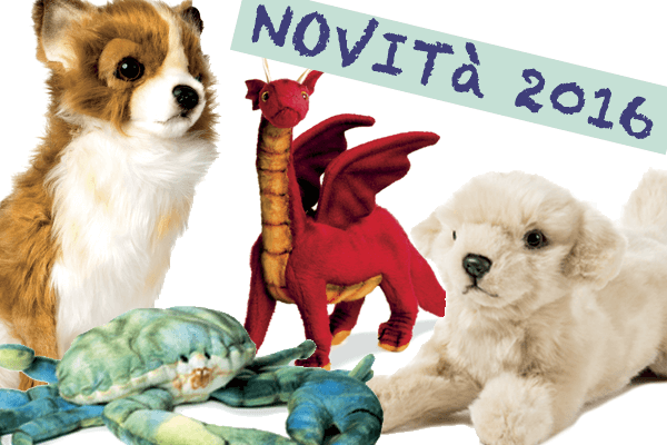 Novità Hansa Creation con vari animali di Peluches